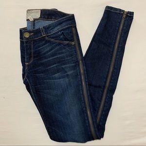 Current/Elliott Skinny Side Zip Jeans